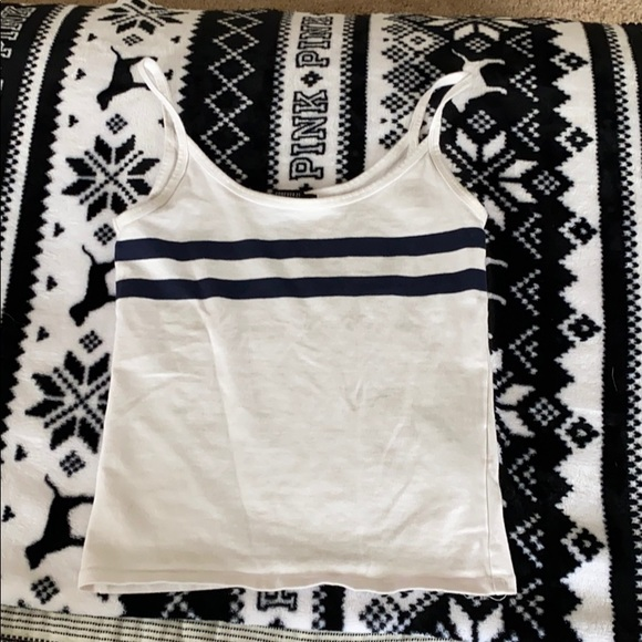 Forever 21 Tops - Navy blue striped tank top